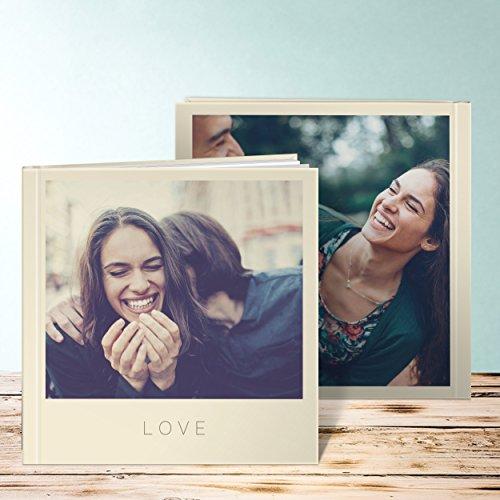 Fotobuch online selber machen, Fotobuch Solo 96 Seiten, 48 Blatt, Hardcover 215x215 mm personalisierbar, Braun