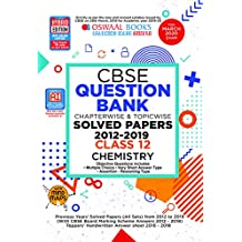 Oswaal CBSE Question Bank Class 12 Chemistry Chapterwise & Topicwise (For March 2020 Exam)