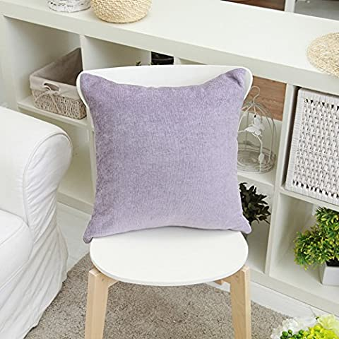 More colors/Chenille solid color cushion/ simple-style pillow/pillowcase for sofa and bed -E