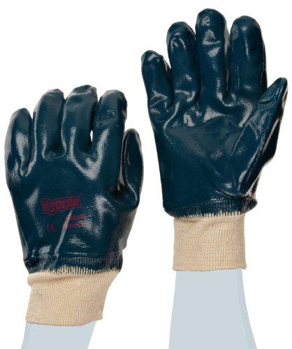 Ansell Hycron 27-602 Gants oléofuges, protection mécanique, Bleu, Taille 9 (Sachet de 12 paires)