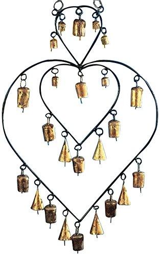 stealstreet 43,2cm Eisen Double Heart Chime mit 24Schellen