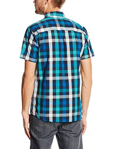 JACK & JONES Herren Freizeithemd Jorrunning Shirt S/S Türkis (Viridian Green Fit:Slim)