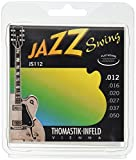 Thomastik Saiten für E-Gitarre Jazz Swing Series Nickel Flat Wound Satz JS112 Medium Light .012-.050w