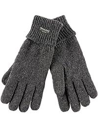 Handschuh Comfort Thinsulate Fingerhandschuhe gefütterte Handschuhe Winterhandschuhe grau L/XL