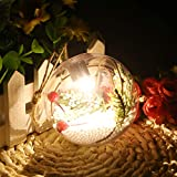 Qiman Weihnachtsbaum LED Klar Ball Licht Lampe Hängende Ornamente Party Outdoor Decor Durchmesser 8 CM Mit Farbwechsel LED Weihnachtskugel (A(1 Lamp,Warm))