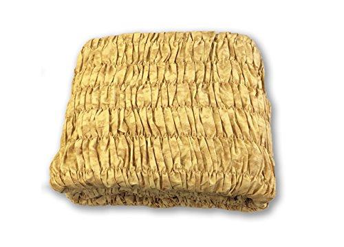 Copridivano angolare universale arricciato oro angolare oro
