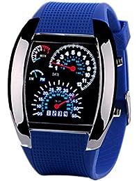 Rosepoem LED reloj electrónico digital Enfriar marcación metro del coche reloj de carreras reloj de pulsera