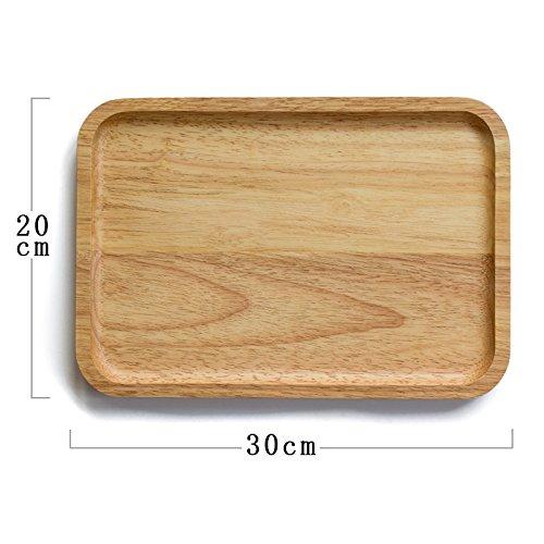 Bezigeorey Plateau Carré Dessert Bac Bac Bac,Disque Rectangulaire 30 * 20Cm