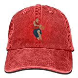 Baketball Player Denim Hat Adjustable Men's Flag Baseball Cap