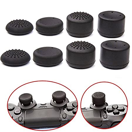 Pandaren® Thumb Grip thumbstick 8 units Professional Sets pack for PS2, PS3, PS4, Xbox 360, Wii U tablet, Switch PRO controller
