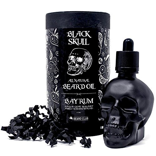 Premium-Beard-Oil-Black-Skull-Bay-Rum-60ml-Limited-Edition-Natural-Organic-The-Best-Oil-For-Beard-Growth-Conditioning-Softening