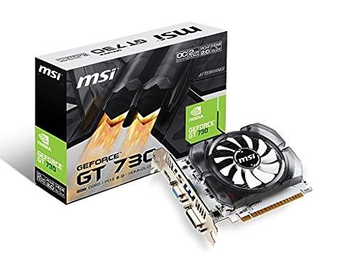 MSI N730-2GD3V2 Carte graphique Nvidia GeForce GT 730 1600 MHz