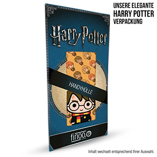finoo | iPhone 8 Handy-Tasche Schutzhülle | ultra leichte transparente Handyhülle in harter Ausführung | kratzfeste stylische Hard Schale mit Motiv Cover Case |Harry Potter Muster Freunde Harry Potter fliegen Muster