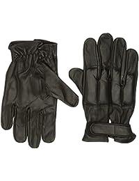 Lederhandschuhe, schwarz, mit Quarzsandfüllung