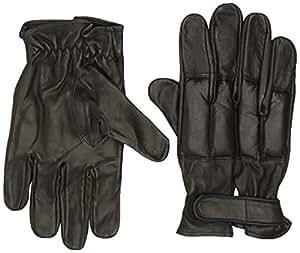 gants plombes au sable, en cuir noir, Taille:M