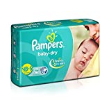 #10: Pampers Baby Dry  Diapers NB-Small Size (46 Count)