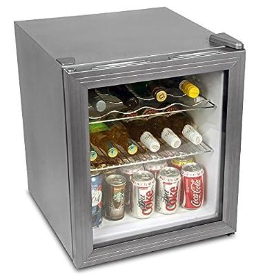bar@drinkstuff Frostbite Wine Fridge 49ltr Silver - 49ltr Mini Fridge Wine Chiller and Mini Fridge from bar@drinkstuff