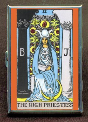 Perfection In Style The High Priestess Tarot Double-Sided Cigarette Case