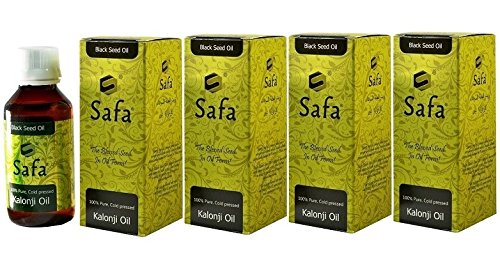 Safa Black seed Oil, Cold Pressed - Pack of 4 x 100 ml