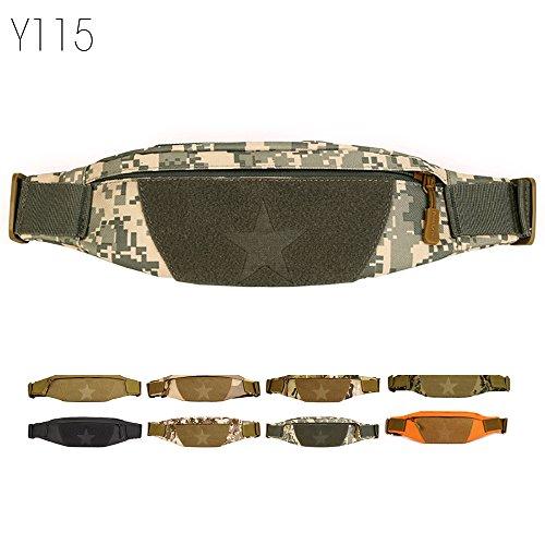 Outdoor Molle Taktisch Gürteltasche Bauchtasche Gürtelbeutel mit Kopfhöreranlass für Handy bis 6 Zoll Sport Taschen von Flyhawk,8 Farbe Y115-ACU Digital