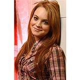 Lindsay Lohan (24inch x 37inch / 60cm x 92cm) Silk Print Poster - Soie Affiche - 0E034E