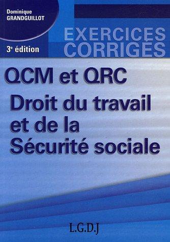 QCM et QRC Droit du travail et de la Sécurité sociale