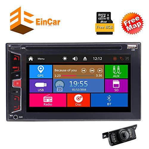 zitiver Schirm Wince Double 2 Din in Schlag-Auto-Stereo DVD Spieler MP5 1080P Video Autoradio Bluetooth-GPS-NAV mit freiem 8GB GPS Map-Karte + Free Backup-Kamera SWC Mirrorlin ()