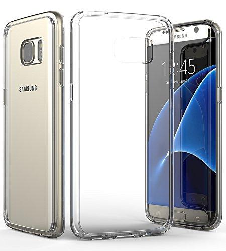 Galaxy S7 Edge hülle, Vena[RETAIN][Klar Clear Cover] Slim Hybrid schutzhülle mit Stoßfest TPU Bewachen Stoßstange und Kratzen Beständig Zurück Abdeckung für Samsung Galaxy S7 Edge