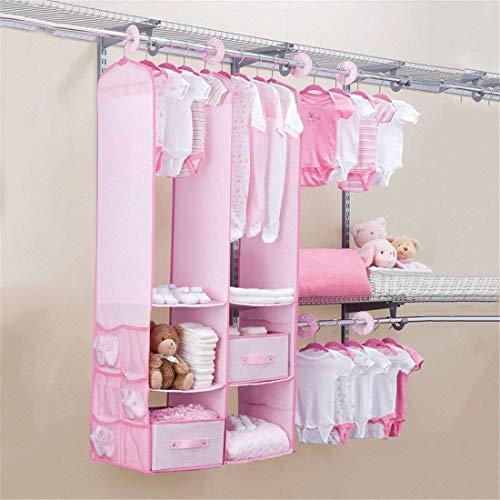 Organiseur de placards pour chambre d'enfants - Organiseur pour garde-robes - 2 étagères, 2 tiroirs...