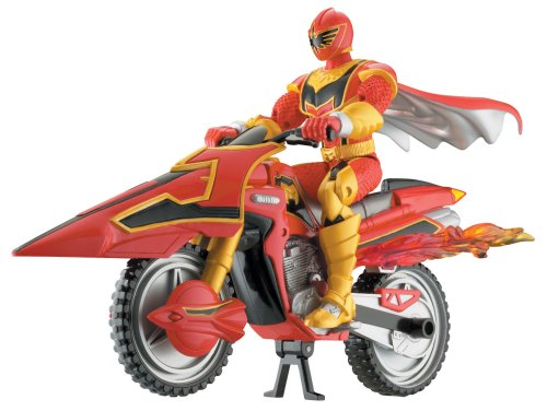 Power Rangers - Mystic Force - Red Power Ranger mit Flame Cycle - Missile Firing Action - OVP