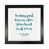 Not Just A Print Ed Sheeran, Typographie Perfect–Paroles de chanson d'impression encadré et personnalisé–Anniversaire de Saint Valentin Cadeau de mariage Idéal pour homme, femme, Couple