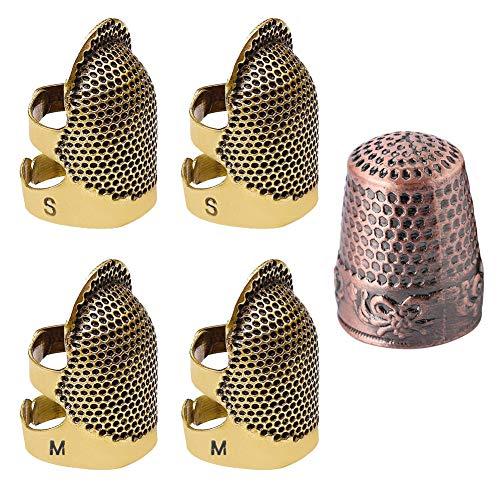 Fingerhut zum Nähen, Fingerhut, Fingerhut, für Daumen, DIY Nähen, Basteln, Nähen, Handwerkzeug, 2 Größen von Vintage-Kupfer, Fingerhut für Nähen, Stickerei, Handarbeit