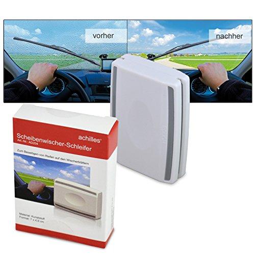 Preisvergleich Produktbild achilles®, Wischeblatt-Schleifer, Tool zum Aufbereiten der Wischerblätter, AD204, weiß, 7 cm x 4,5 cm x 2 cm