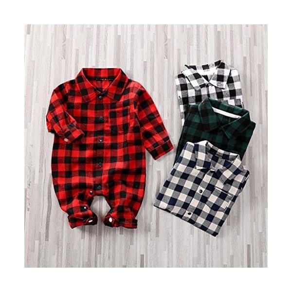 Greenwind Mameluco del bebéBebé recién Nacido Bebé Niños Niñas Plaid Jumpsuit Romper Ropa de otoño e Invierno 2