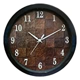 #9: 1 Stop Poster Design Silent Movement (26 cm X 26 cm) Plastic Round Shape Wood Design Wall Clock - 002
