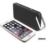 iLuv Aud Mini 6–Enceintes portables stéréo, sans fil, batterie, USB, Bluetooth, Universal, Noir)