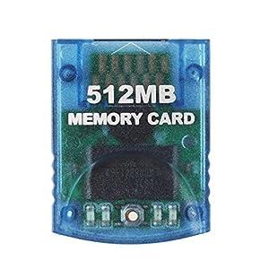 Childhood Clear Blue 512M Speicherkarte für Wii NGC Gamecube Konsole