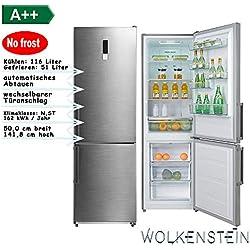 PKM Kühl-Gefrierkombination Low Frost Silber A++ 142cm 167 Liter KG222.4A++LF S