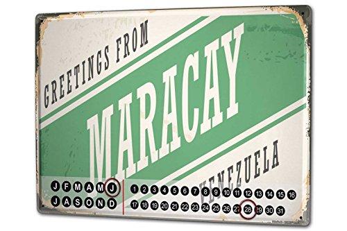 Wandkalender 2019 Jahreskalender Dauerkalender 2020 Kalender 2021 Terminplaner Fotokalender Stadt Maracay Venezuela Metall Magnet