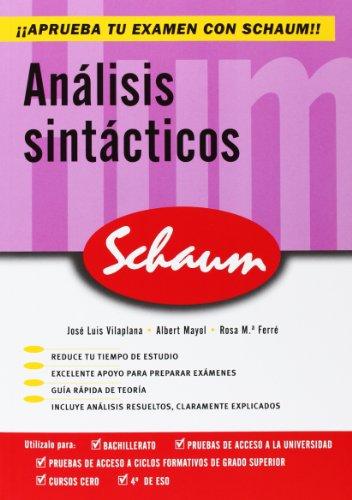 Analisis sintacticos. Schaum - 9788448198626