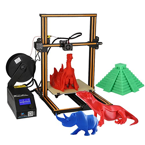 Affordable Creality CR-10 3D Printer DIY 300 * 300 * 400mm Print Size Supports PLA/ABS/TPU/Copper/Wood/Carbon Fiber Filament UK Plug on Line