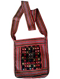 Handmade Bags Women With Multi Color Red