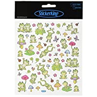 Tattoo King Multicolored Stickers-Spotted Frogs