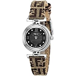 Fendi reloj moda marrón Dial Diamond f271222df