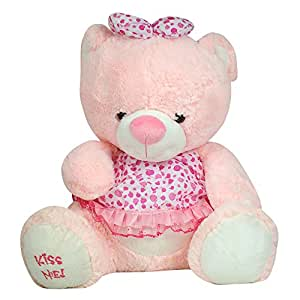 MANBOC Adorable Teddy Bear for Kids and Women (Large, Pink)