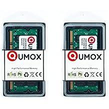 Memoria para ordenador QUMOX @ 2x 2GB 4GB DDR2667MHz PC2–5300PC2–5400(200pin) SODIMM