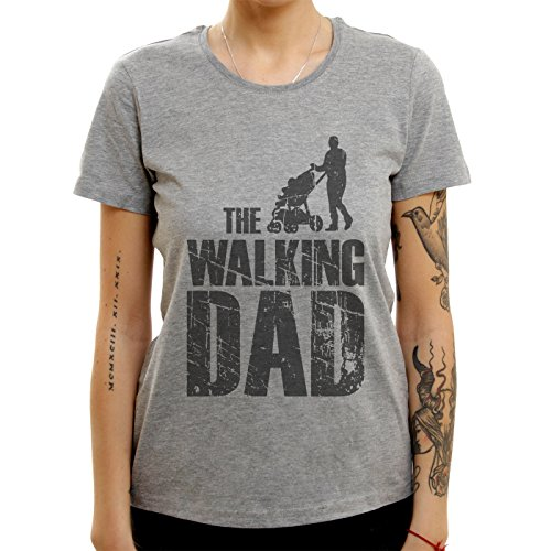 The Walking Dad The Hylarious Type Grey Majestic Large Donne T-Shirt