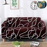 Treer Elastisch Sofa Sofabezug, Geometric Überwürfe 1/2/3/4 Sitzer mit Armlehnen Polyester Stretch...