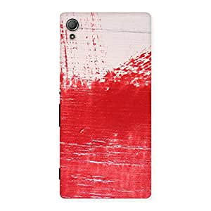 Red Fresh Texture Back Case Cover for Xperia Z3 Plus