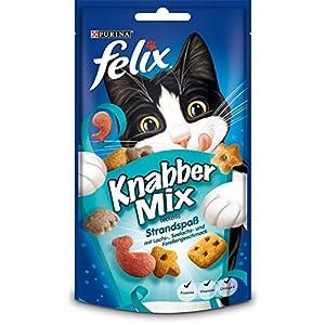 Felix Knabber Mix Katzensnack, 1er Pack (1 x 60 g)